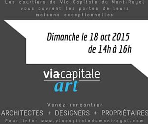 Art par Via Capitale du Mont-Royal: rencontrez architectes, designers et propriétaires