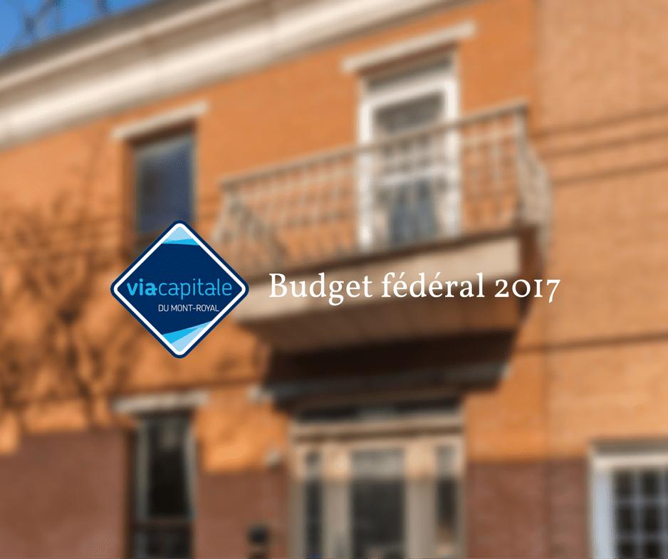 Budget fédéral 2017
