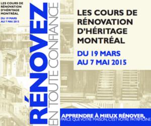 Rénovez en toute confiance grâce aux Cours de rénovation d'Héritage Montréal !