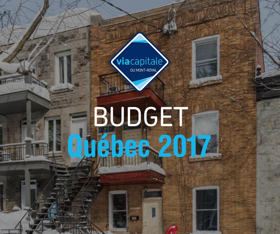 Budget du Québec 2017
